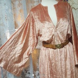 Halston Crushed Velvet Dress S/M
